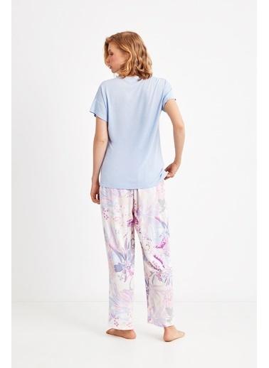 Catherines 1831 Battla Pijama Takım Mavi